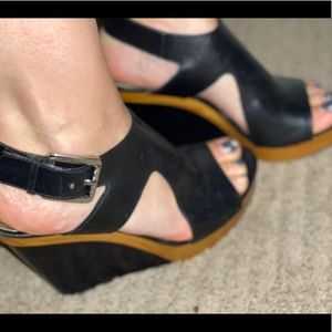 Michael Kors black wedges Sz 7.5